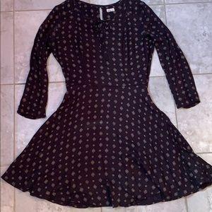 Hollister patterned long sleeve dress